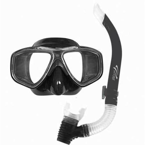 Oceanpro Eclipse Oasis Mask Snorkel Set - Black - Mask / Snorkel Sets