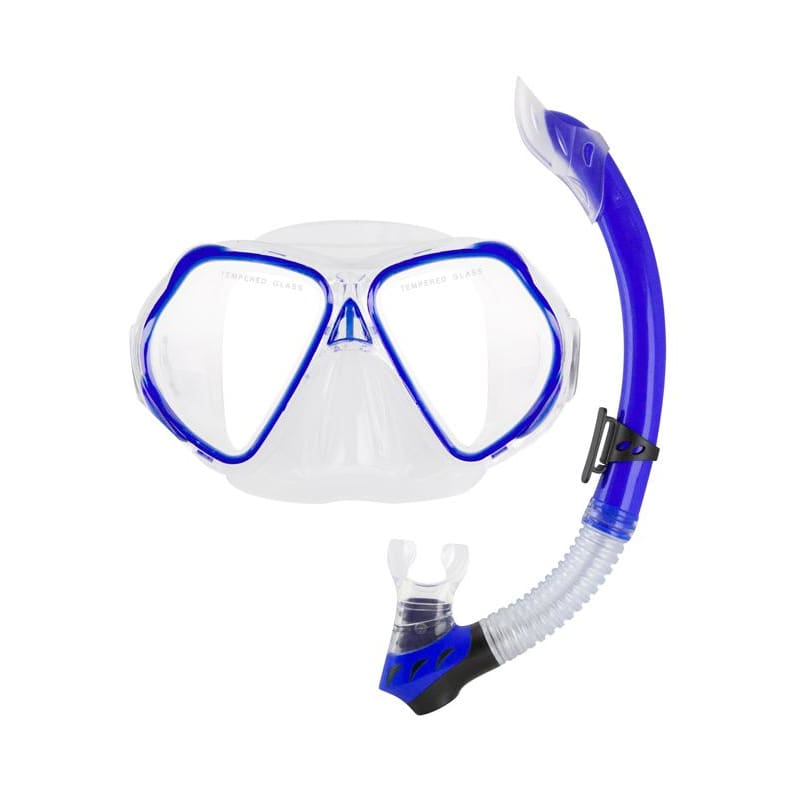 Oceanpro Seahorse Jnr Mask Snorkel Set - Blue - Mask / Snorkel Sets