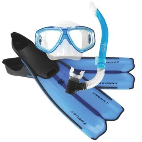 Oceanpro Thrust Mask Snorkel Fins Set - Sea Mist / Size 10-11 - Mask / Snorkel / Fin Sets