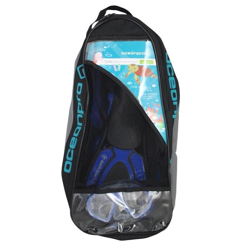 Oceanpro Turtle Junior Mask Snorkel Fin Set - Mask / Snorkel / Fin Sets