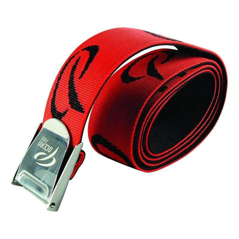 Oceanpro Weight Belt Webbing - Red - Weight Belts