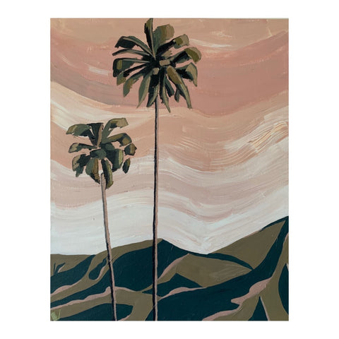 SUNSET PALMS   Sunsets paint the sky with peach
