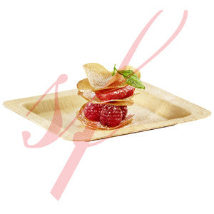 Bamboo square plate 5.9 in.