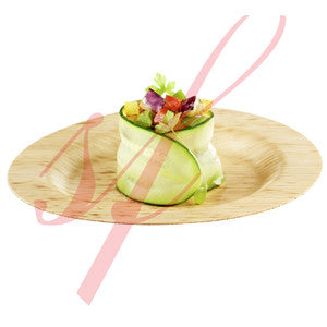 Bamboo leaf plate 3.5 in.