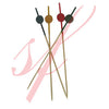 Bamboo beaded skewer 4.7 in. red