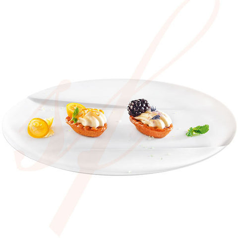 Premium Round Dinner Plastic Plate 9.5 in. - 50/cs