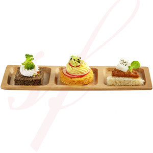 Bamboo square Trio plate 7.5 in.