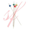 Bamboo ball skewer 5.9 in. red