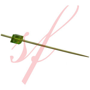 Cube skewer 3.5 in. green