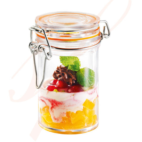 Reusable Plastic Jar 2.5 oz. - Clear - 24/cs