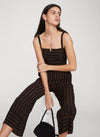 faithfull the brand - guanabo jumpsuit - mazur stripe espresso