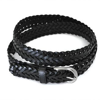ZAREH LEATHER BELT - BLACK