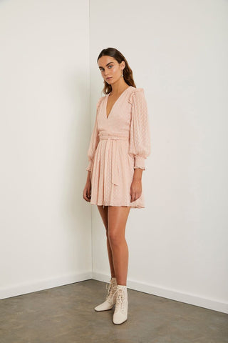 steele - prato off shoulder dress - amber