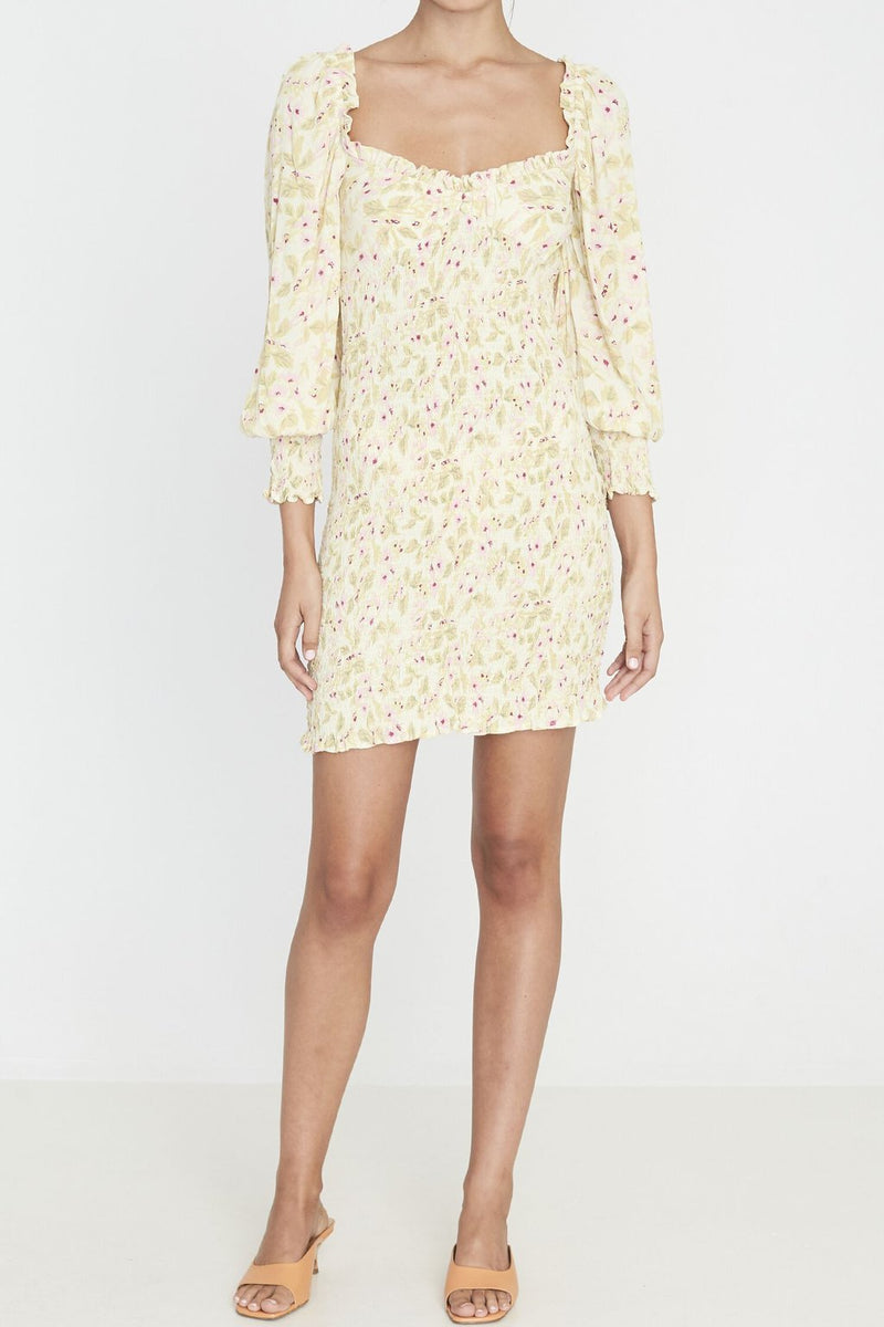 faithfull the brand - gombardy mini dress - adele floral print