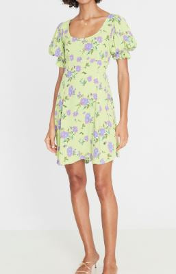 faithfull the brand - billie midi dress - dahlia floral