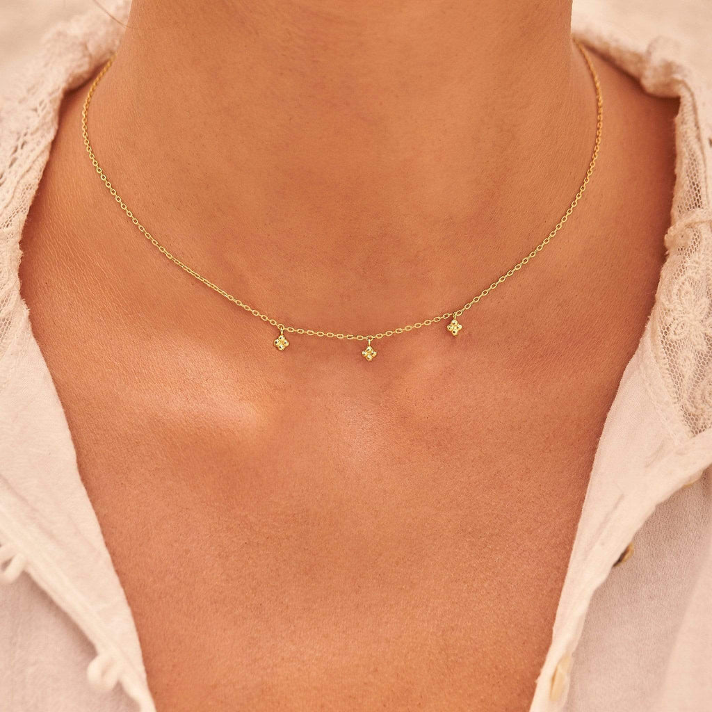 by charlotte - charmed choker - gold