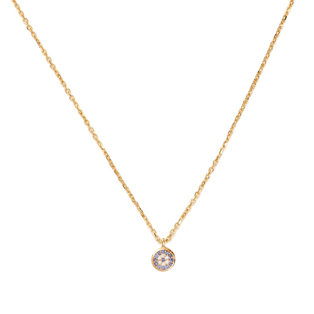 by charlotte - gold jewelled eye necklace
