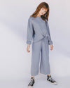 the lullaby club - alex mini knit set - denim blue