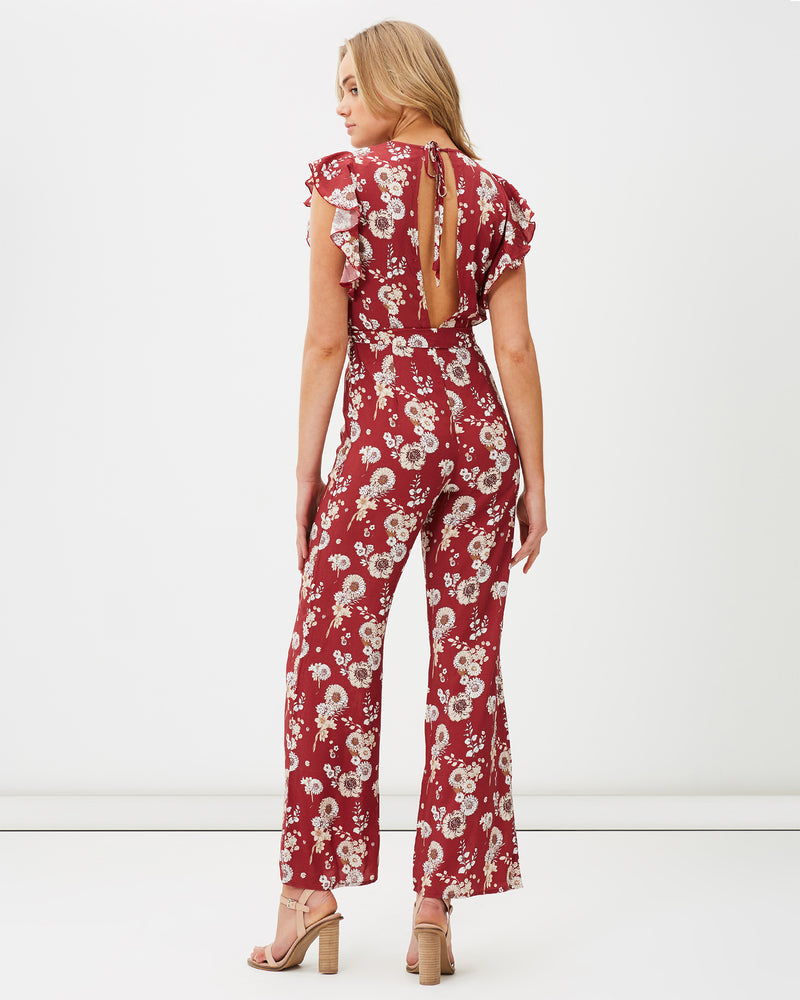 charlie holiday - avalon jumpsuit - burnt floral