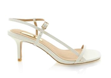 billini - wynne heel - white