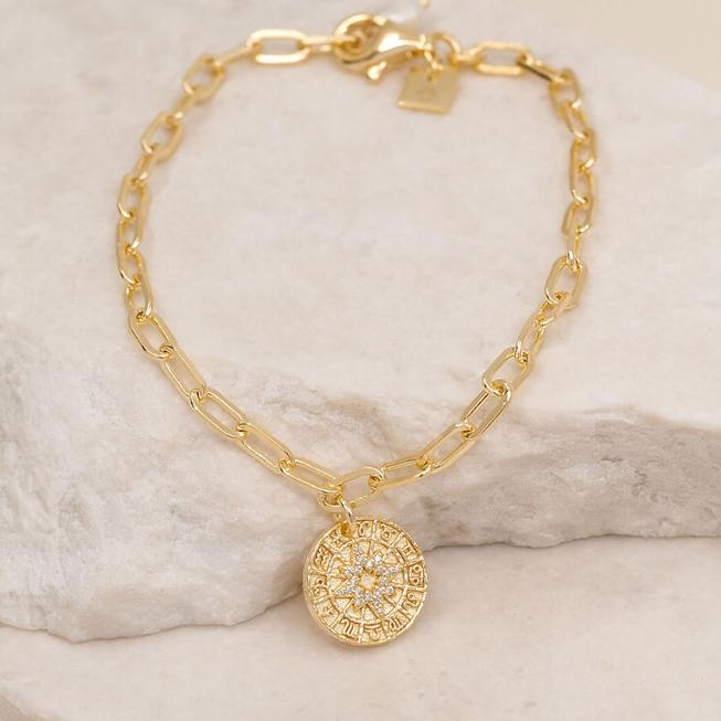 by charlotte - written in stars bracelet - gold