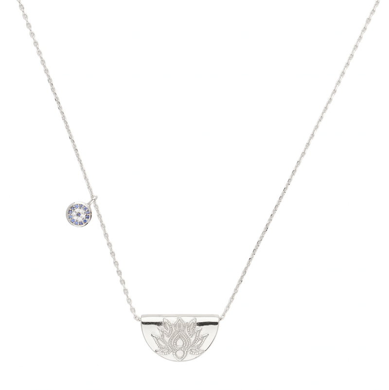 by charlotte - silver lucky lotus necklace