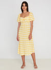 faithfull the brand - juniper midi dress - ligne check