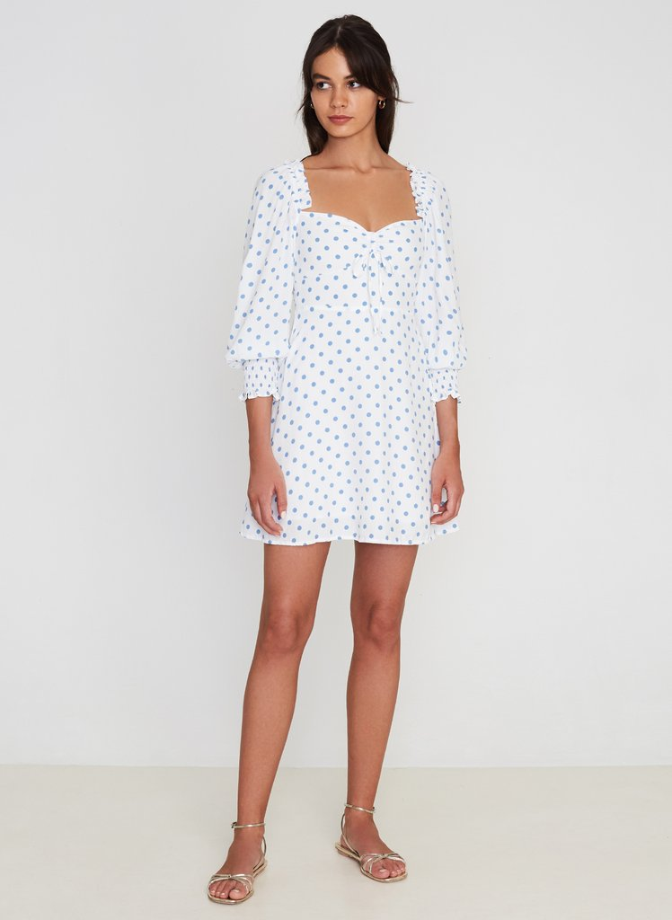 faithfull the brand - arianne mini dress - maurice dot print
