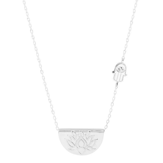 by charlotte - sacred guardian necklace - silver