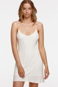 tigerlily - st lucia nita mini slip dress - antique white