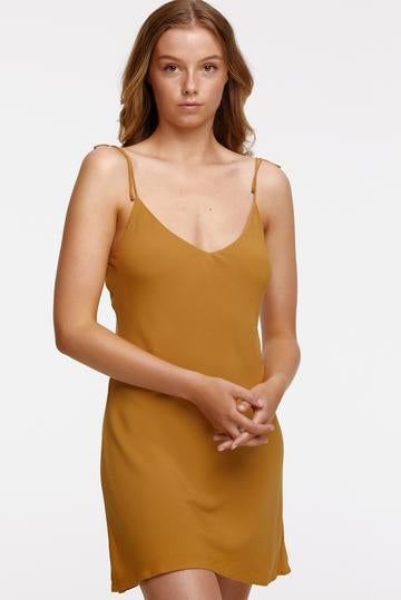 tigerlily - st lucia nita mini slip dress - cinnamon
