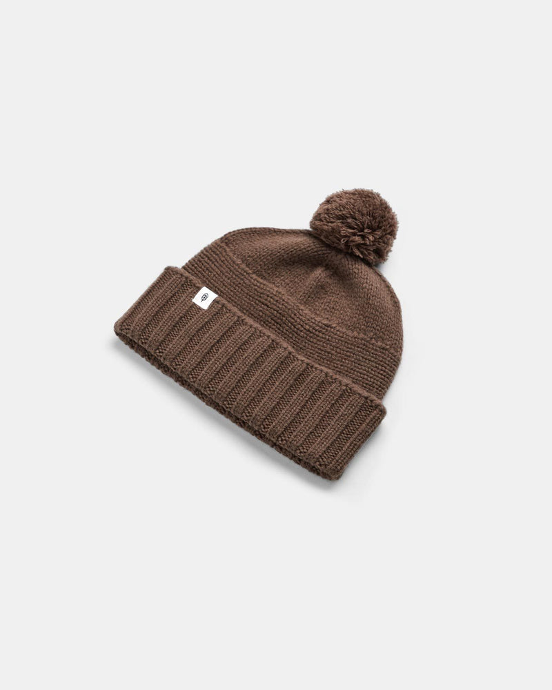 will and bear - tasman beanie - brown