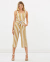 charlie holiday - maya overalls - gold stripe