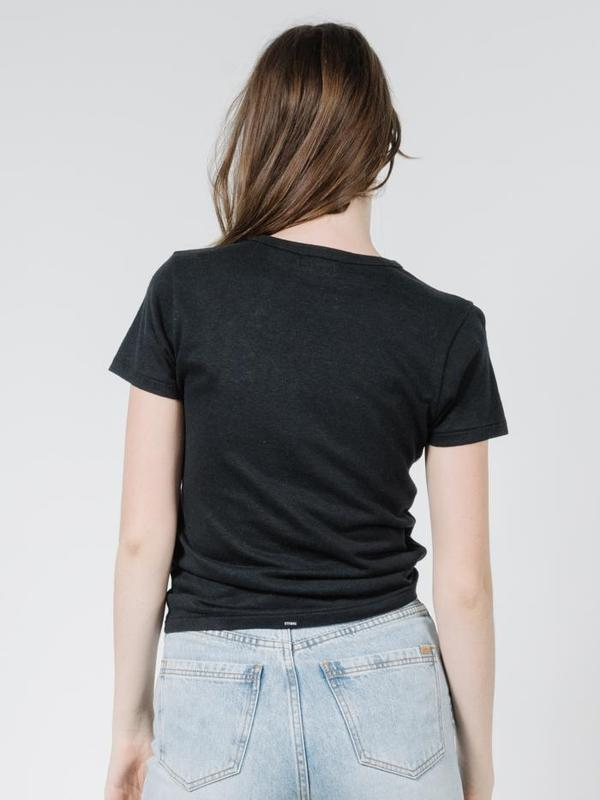 thrills - hemp slim tee - faded black