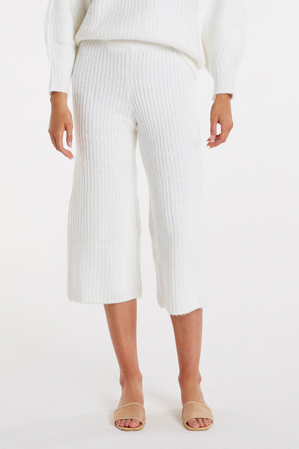 zulu & zephyr - immerse knit pant - warm white