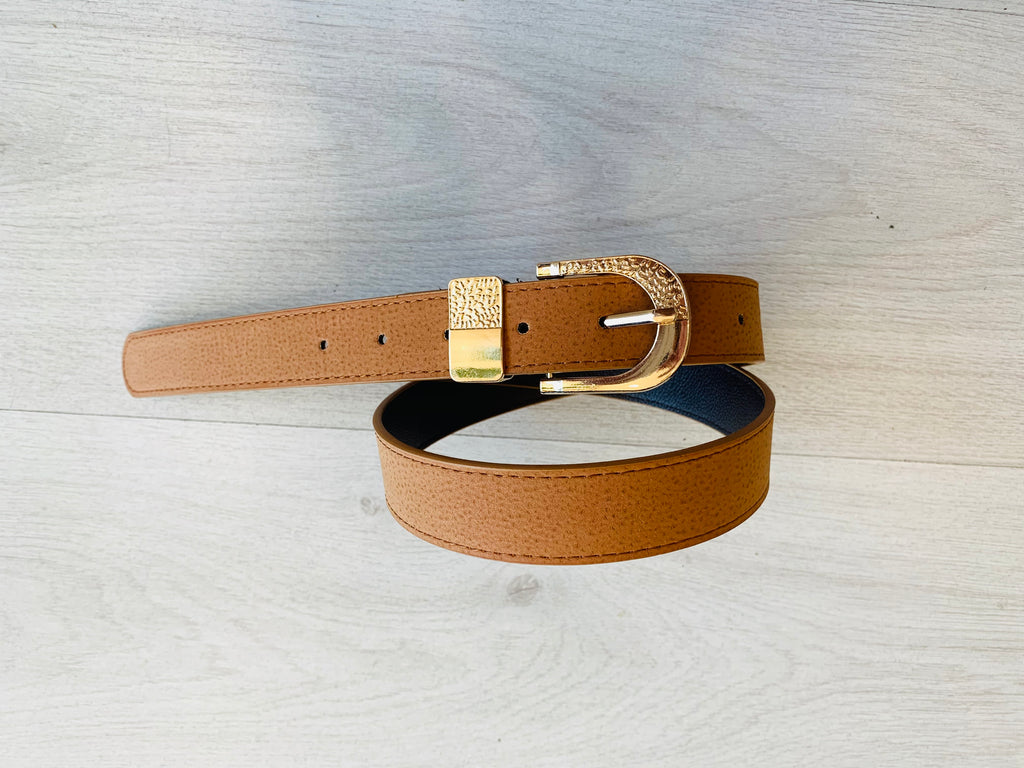 tlb house - dusty belt - tan / gold