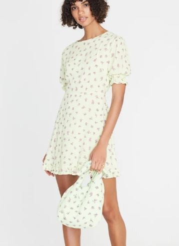faithfull the brand - florence mini dress - luda floral lime