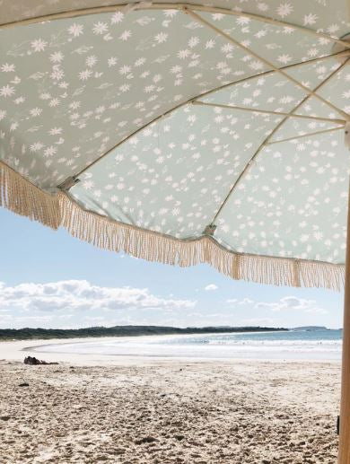 salty shadows - flannel wooden umbrella