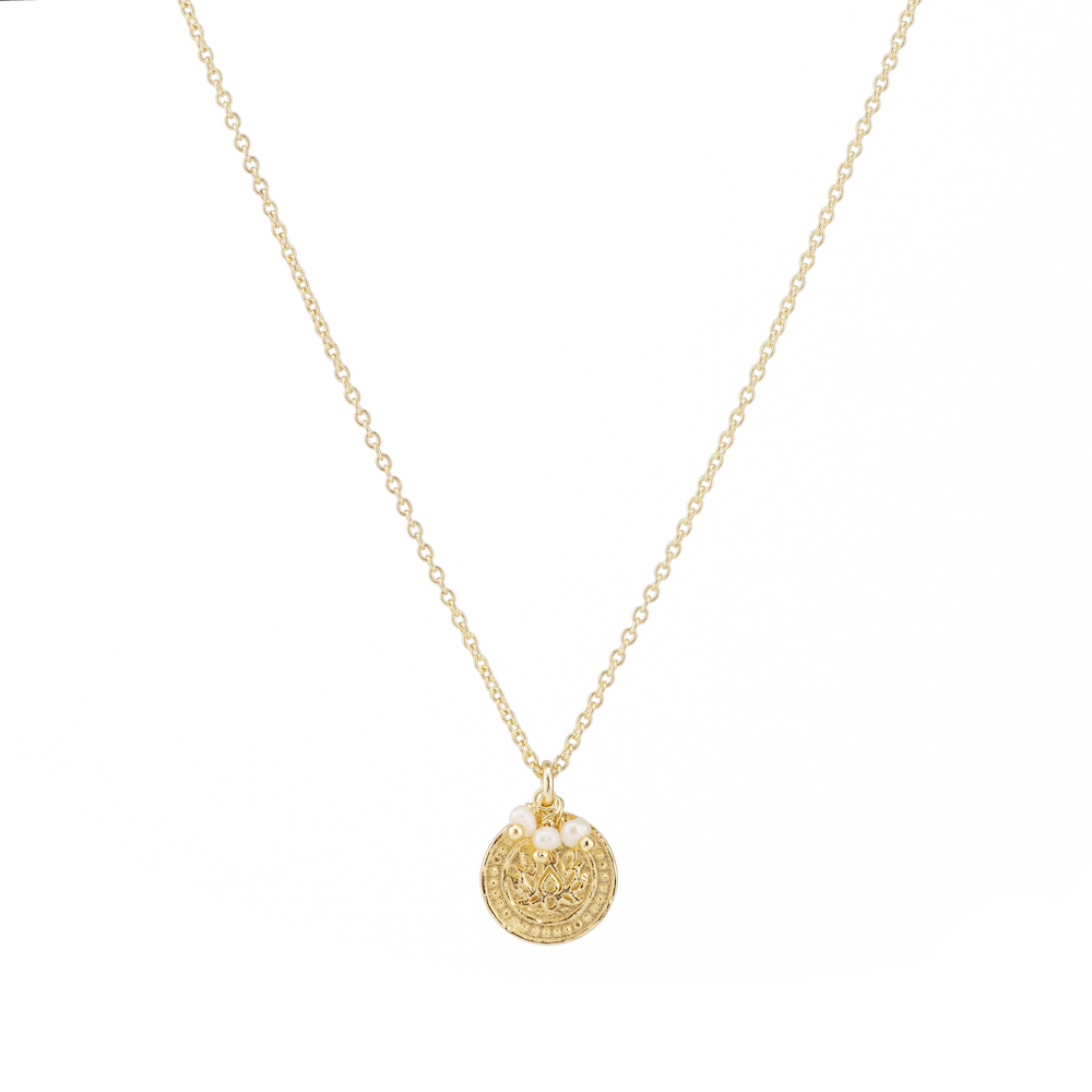 BY CHARLOTTE - GOLD LOTUS RISING NECKLACE