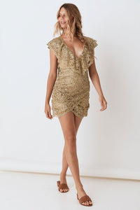 spell - nina shift dress - bronze