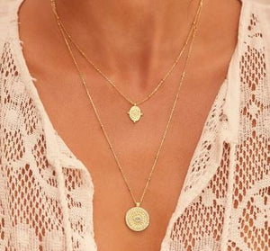 by charlotte - path of life necklace - gold