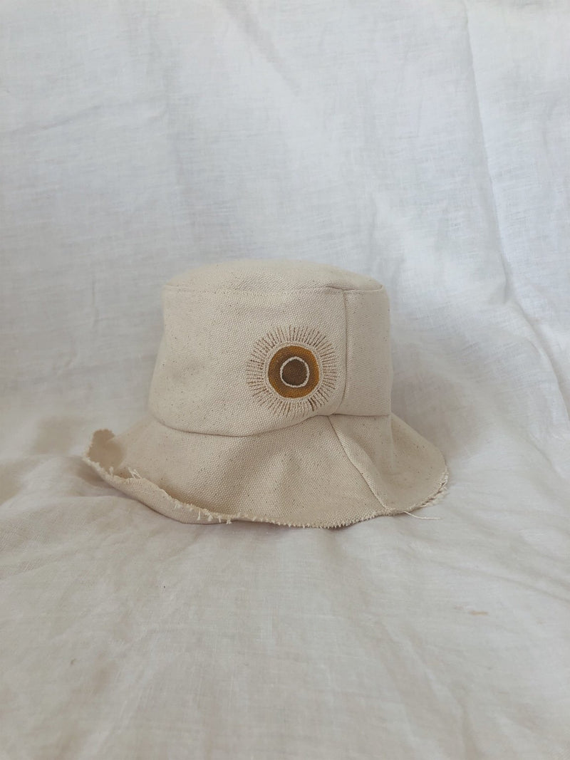 salty shadows - kids handmade canvas bucket hat