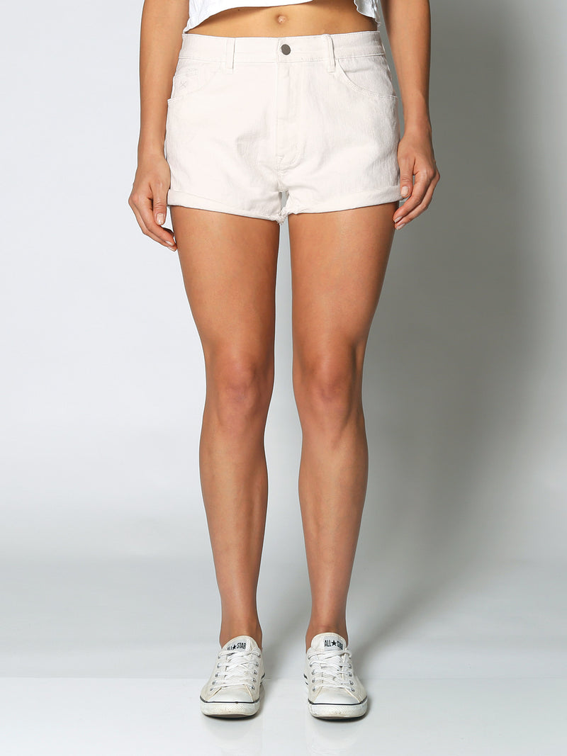 RES DENIM - ROLLED SHORT - WHITE