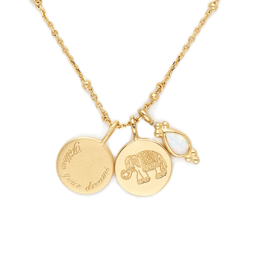 BY CHARLOTTE- GOLD FOLLOW YOUR DREAMS NECKLACE