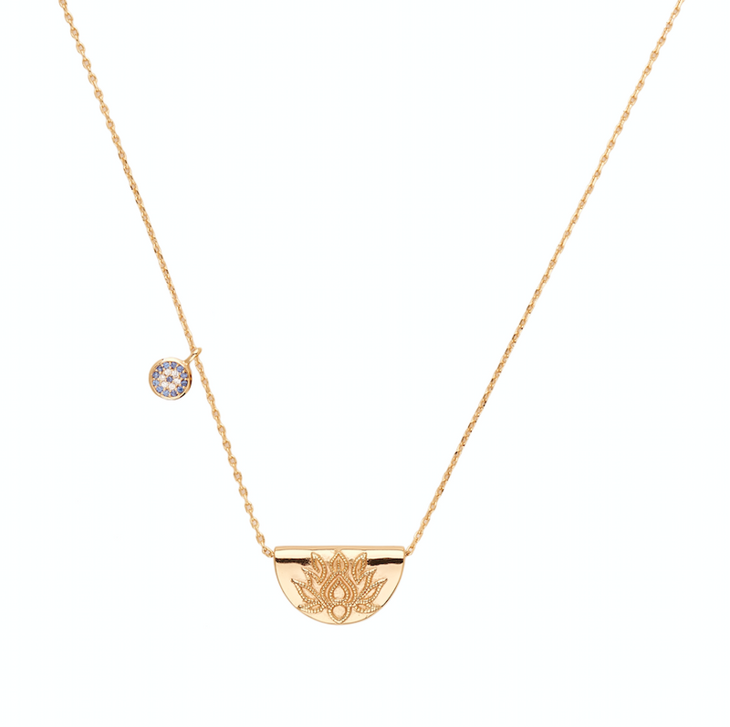 BY CHARLOTTE - LUCKY LOTUS NECKLACE - GOLD