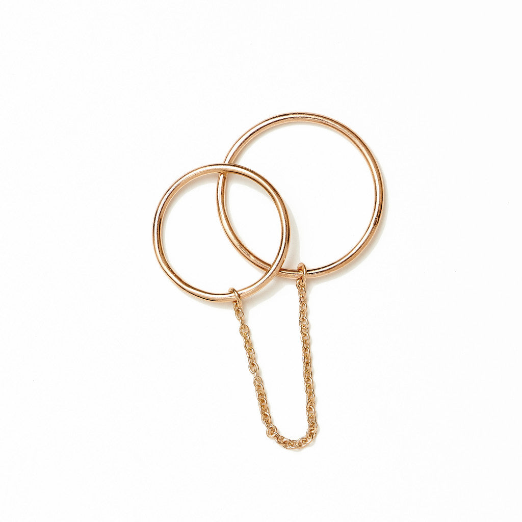 BY CHARLOTTE - ROSE GOLD TWIN PURITY CHAIN RING