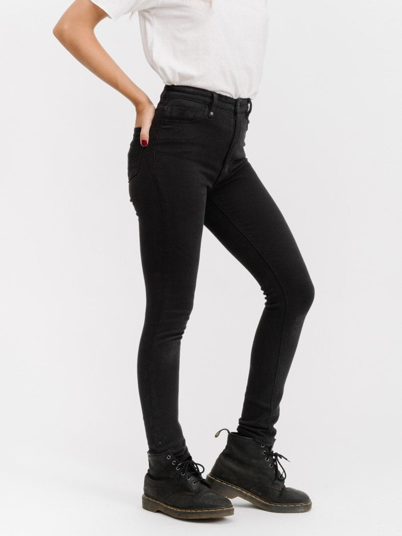 THRILLS - MERCY JEANS - FADED BLACK