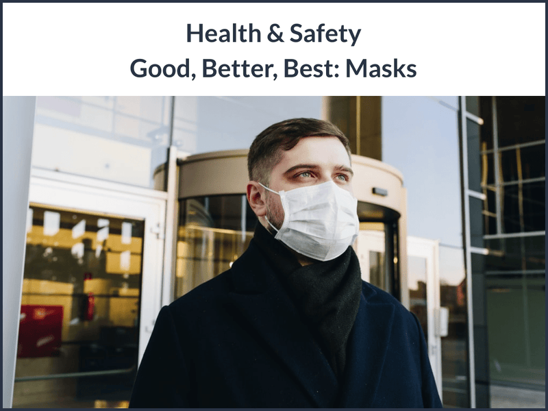 Health & Safety Good, Better, Best: Masks