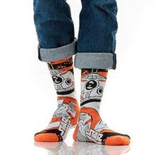 [2-Pairs] Star Wars Men's BB-8 Droid Socks  - UntilGone.com