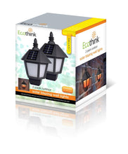 [2-Pack] Ecothink Solar-Powered Wall Lanterns  - UntilGone.com